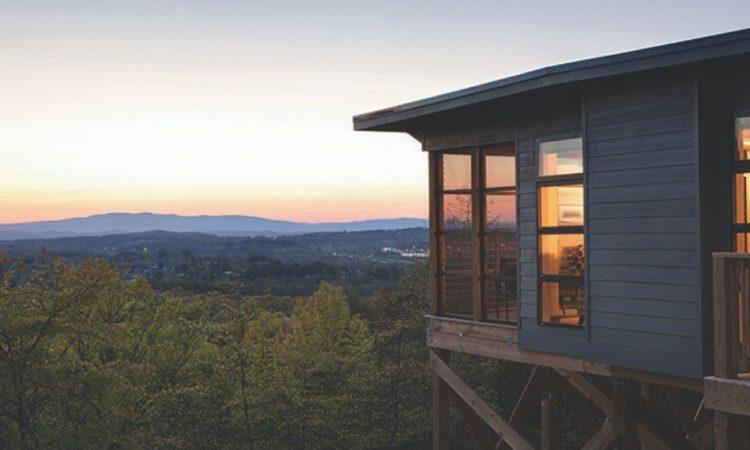 Mountain views overlooking Virginia's wine country region at The Iris Inn & Cabins.