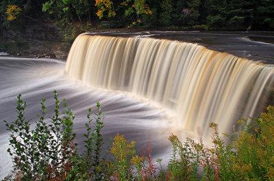 beautiful view of tahquamenon falls