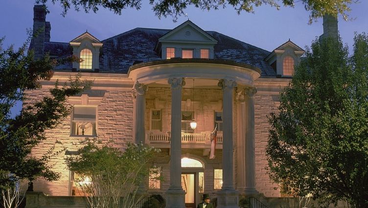 Graystone Inn exterior at dusk