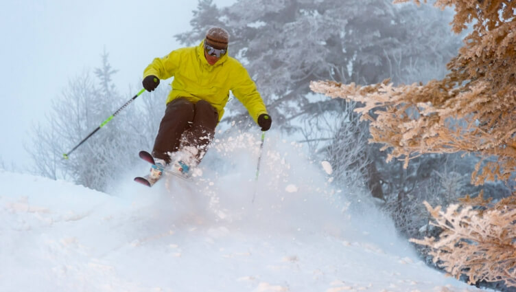 Skier in Stowe VT