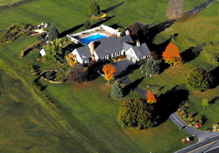 Aerial view of Annville Inn