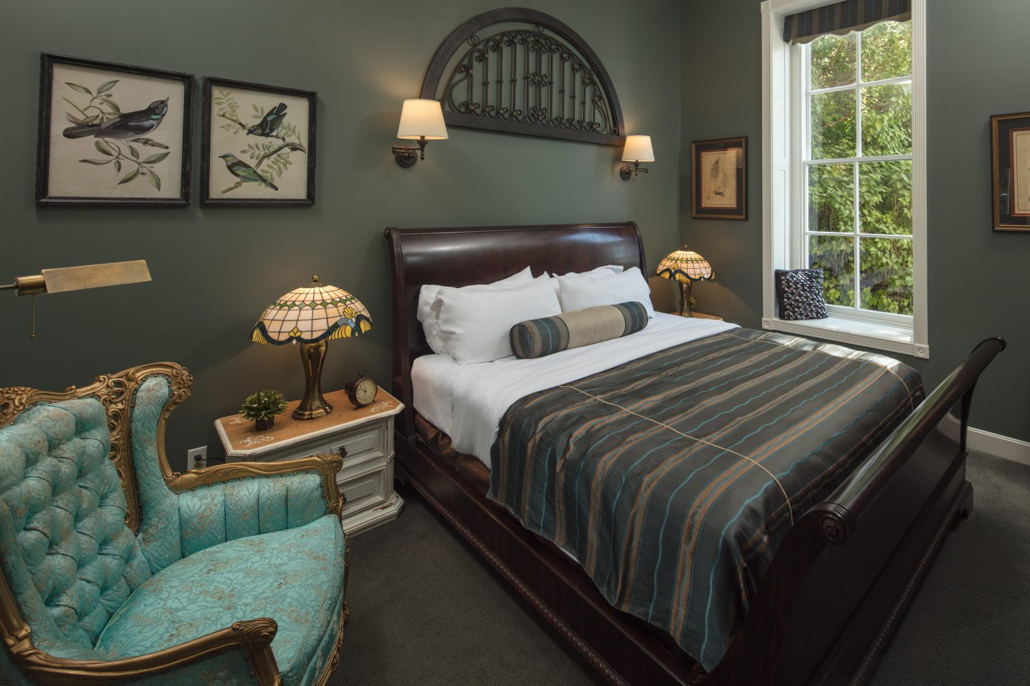Jail Hill Inn's luxurious room 6 with deluxe furnishings and plush bedding