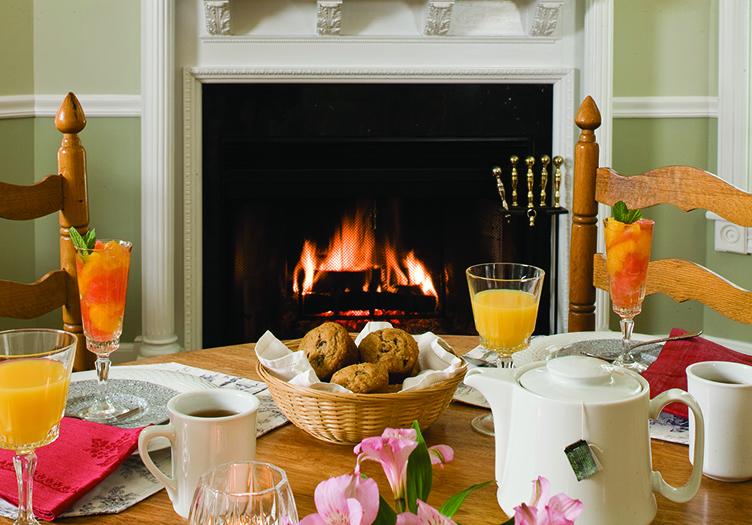 Maple Leaf Inn Breakfast Table