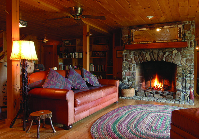 North Fork Mountain Inn fireplace