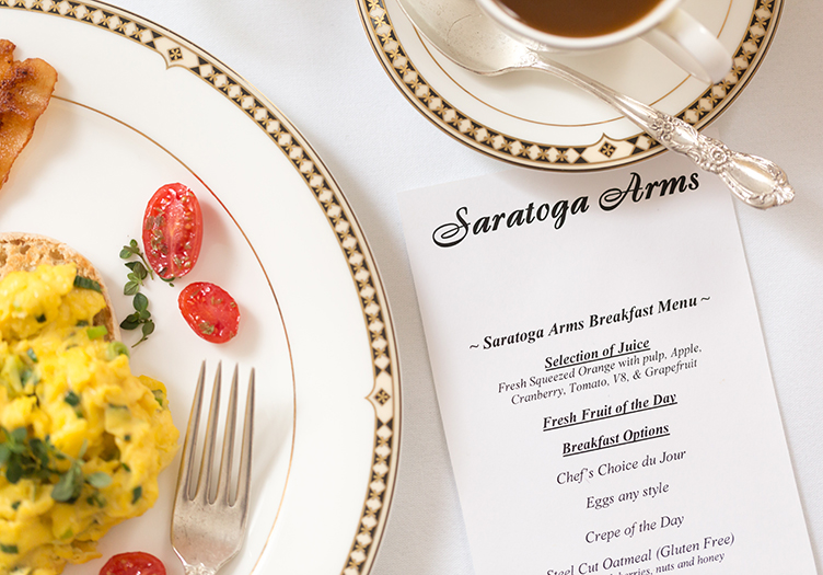 Saratoga_Arms_Food