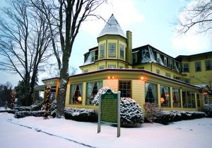 Stafford's Bay View Inn Exterior in the Winter Snow