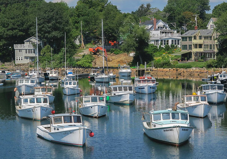 Perkins Cove in Ogunquit, Maine.