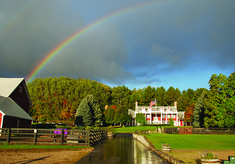 Rainbow over The Inn at Black Star Farms