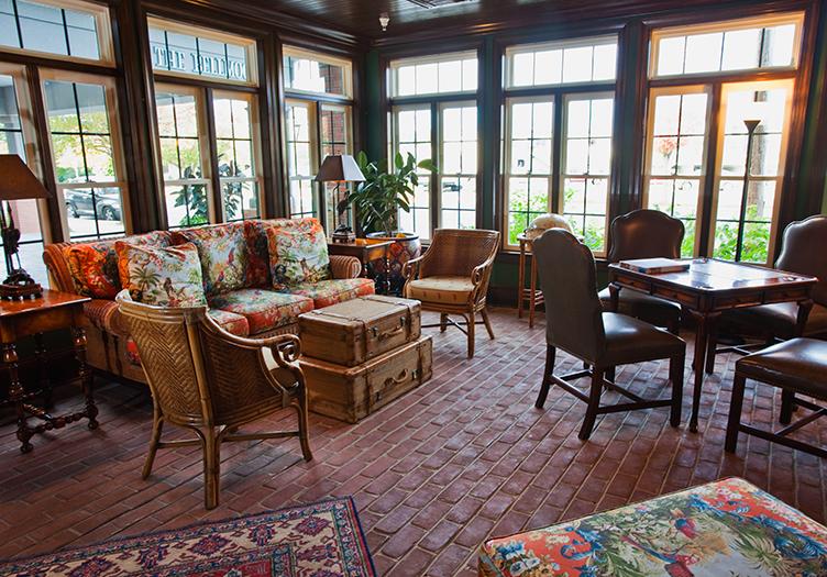the ballard inn and gathering table living room