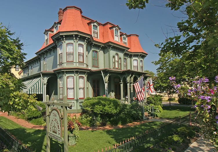 View of the beautiful Queen Victoria Bed and Breakfast in Cape May