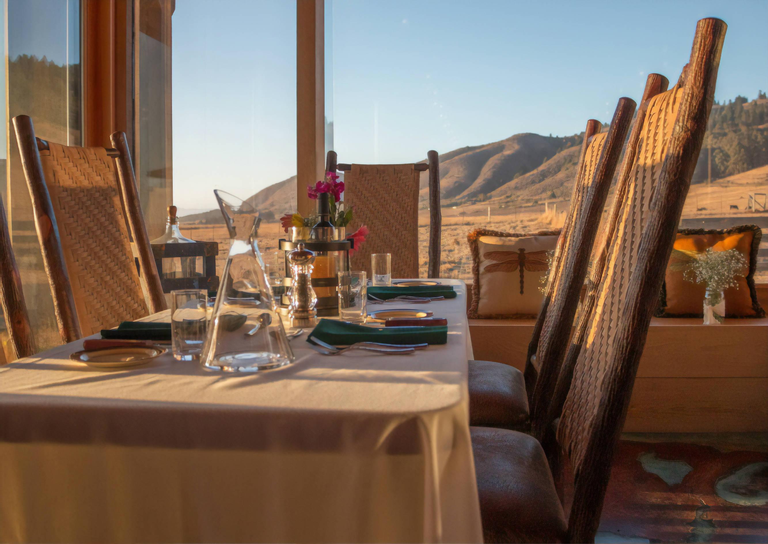 Dinner Table The Inn at Newport Ranch