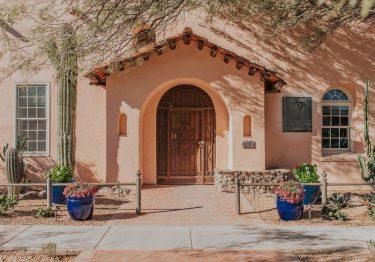 The Armory Park Inn Entrance Adobe Exterior