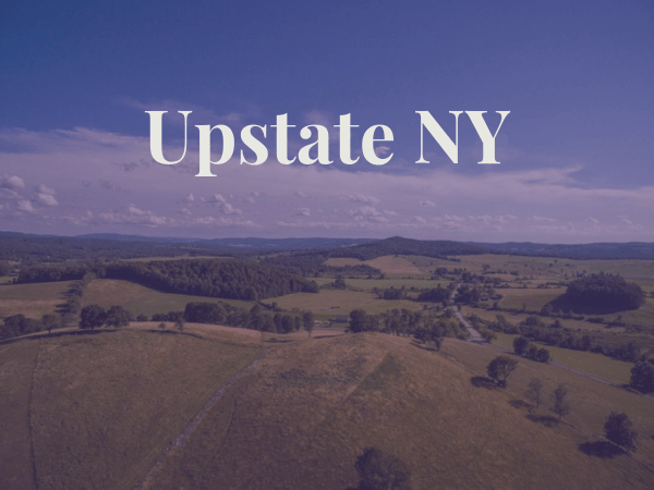 View of Upstate New York fields