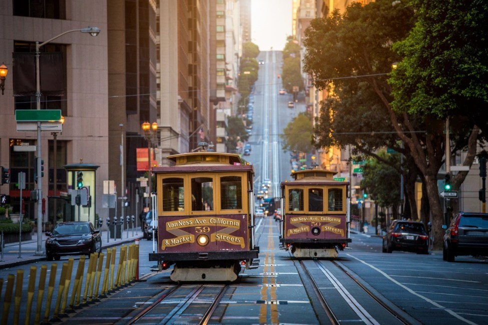 bay area cable cars near the best bed and breakfast in the bay area