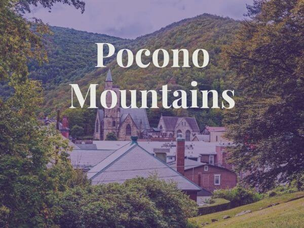 view of Pocono mountains