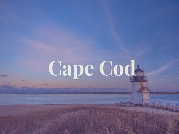 view of cape cod lighthouse and water