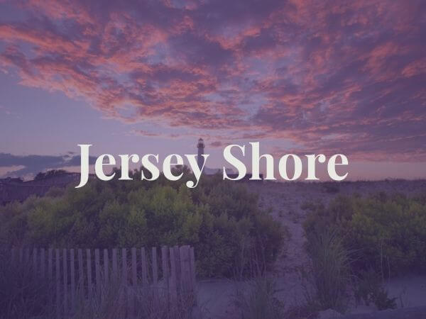 View of Jersey shore lighthouse