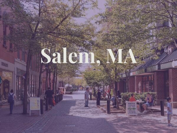 View of downtown Salem, MA