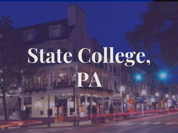View of State College, PA
