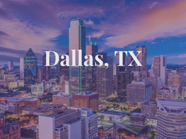 View of Dallas, TX