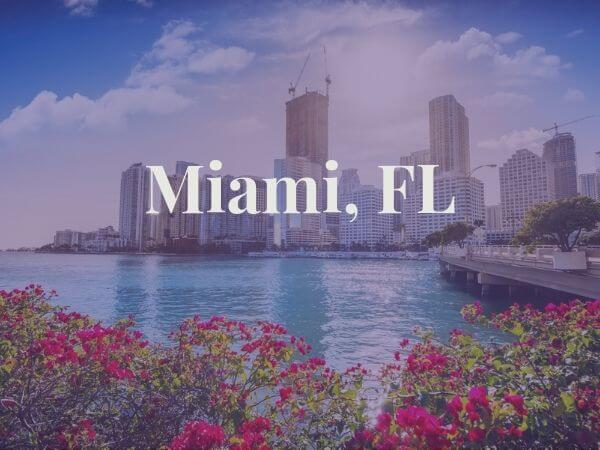 View of Miami, FL