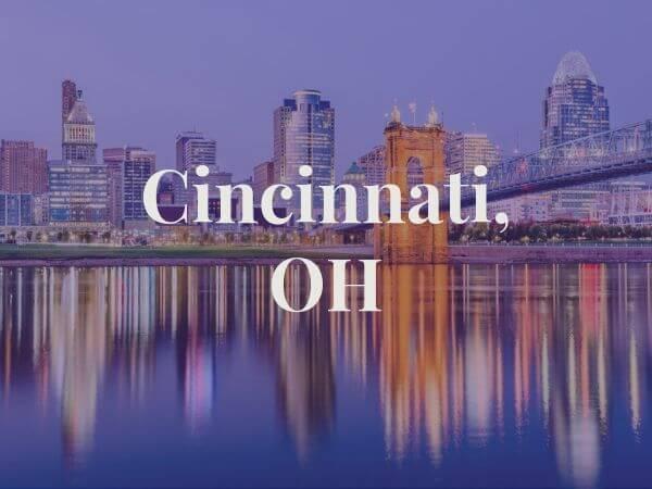 View of Cincinnati, OH