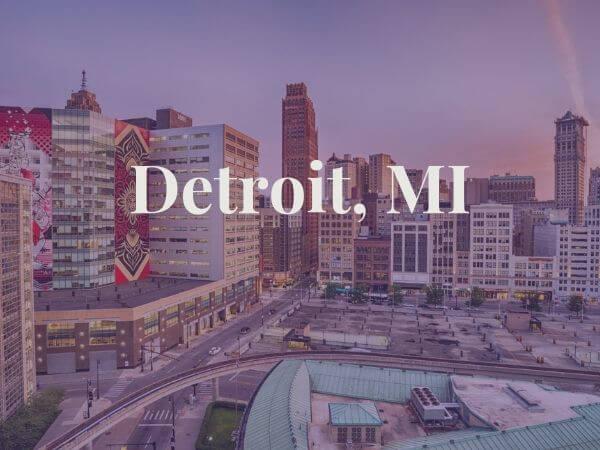 View of Detroit, MI
