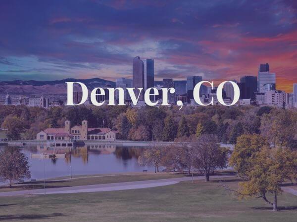 View of Denver, CO