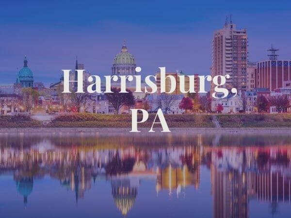 View of Harrisburg PA