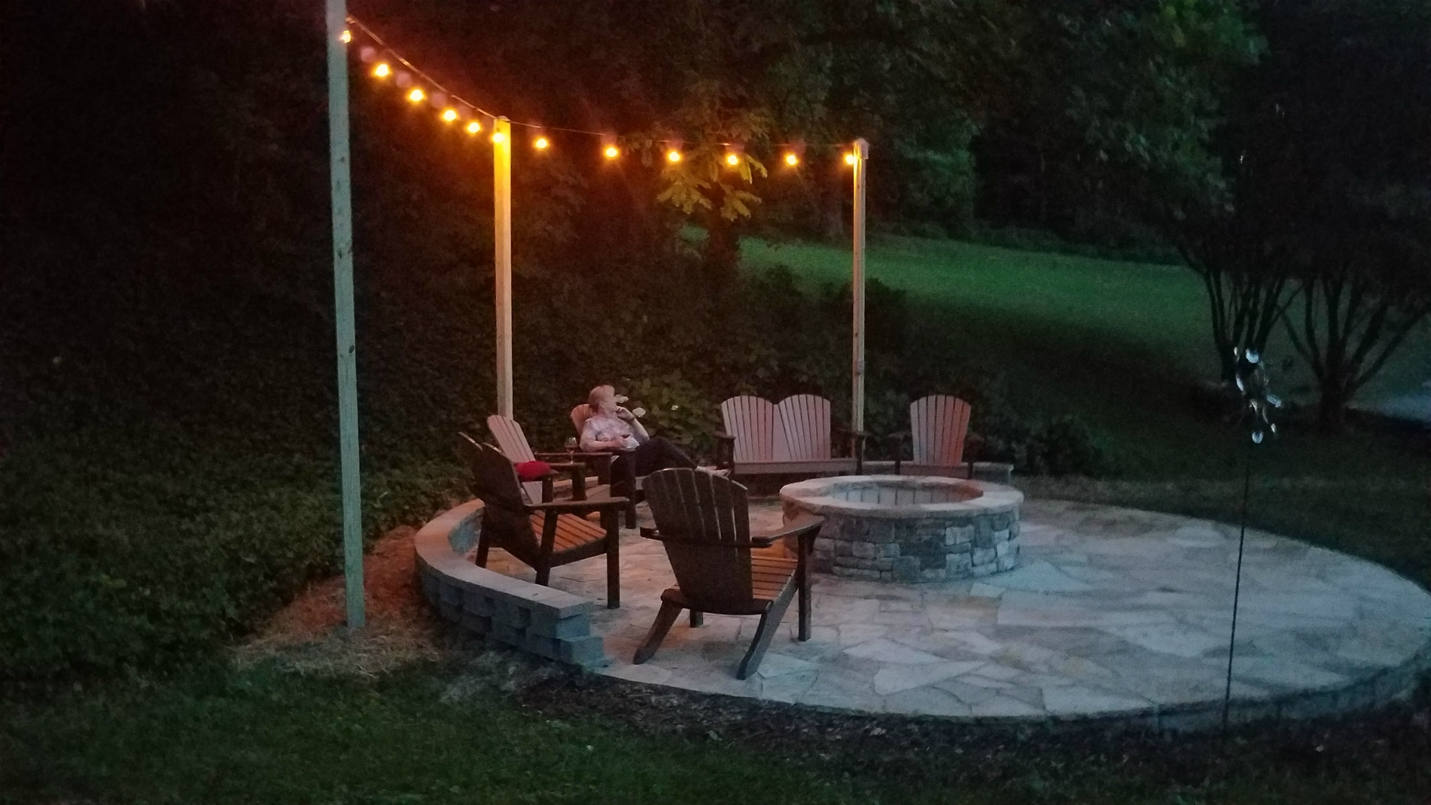 Our Fire Pit at Dusk