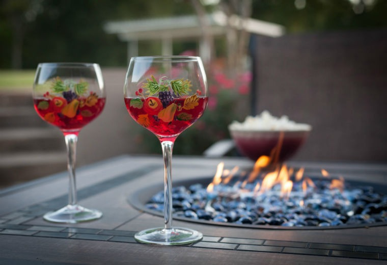 Sip wine by the firepit