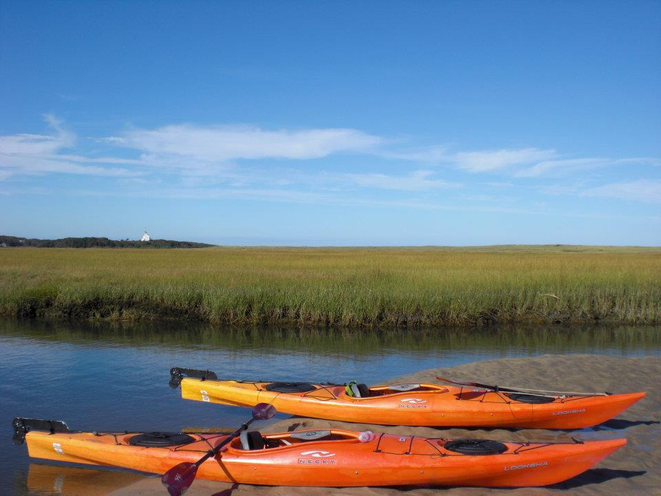 kayaking on wellfleet harbor cape cod vacation